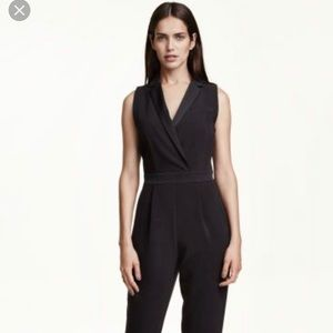 NWT H&M tuxedo jumpsuit